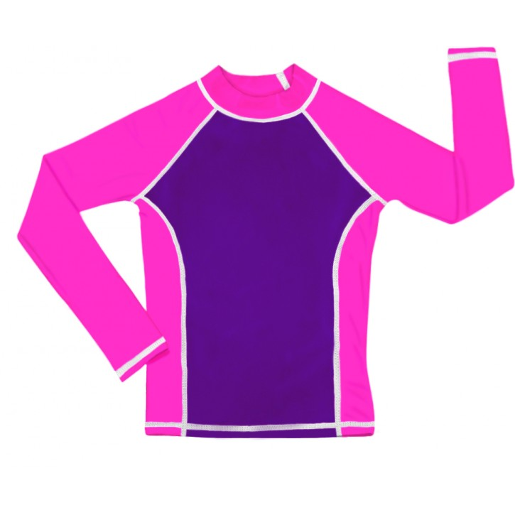 Purple / Pink UV Long Sleeve Swim Shirt
